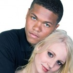 White woman-Black man couple