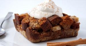Honey-Cinnamon Banana Bread Pudding