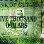 Guyana Launches 5,000 Dollar Note