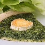 Spinach Tart with Olive-Oil Cracker Crust