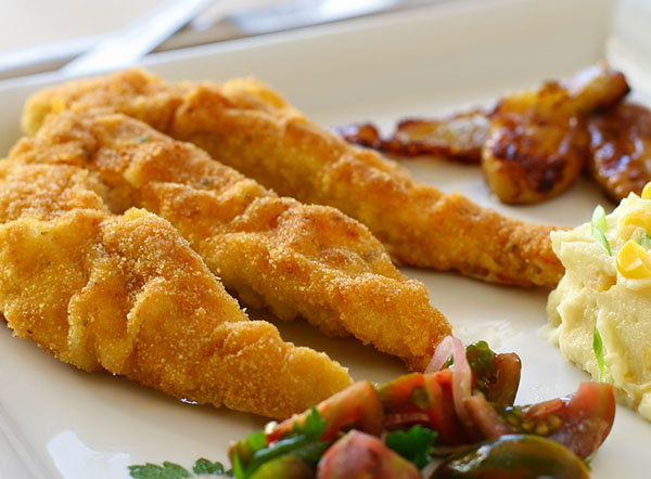 Chicken Tenders with Creamy Honey Mustard