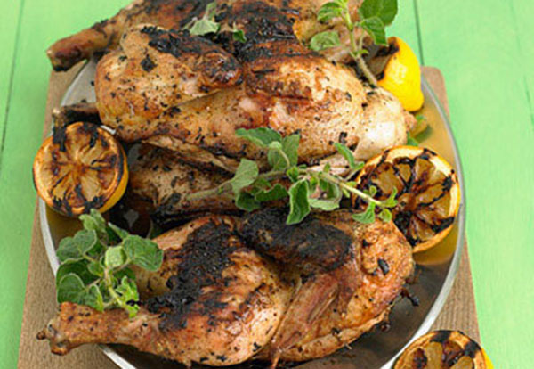 Grilled Chicken with Lemon and Oregano