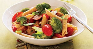 Whole Wheat Penne with Broccoli and Sausage