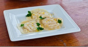 Crab Ravioli with Lemon Butter
