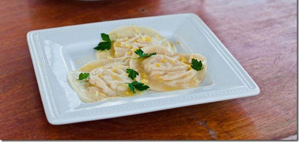 Crab Ravioli with Lemon Butter