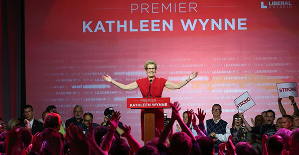 Wynne Premieres New Cabinet