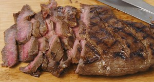 Grilled Flank Steaks with Herb Butter