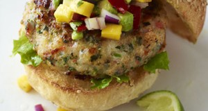Shrimp Burgers with Mango-Avocado Salsa