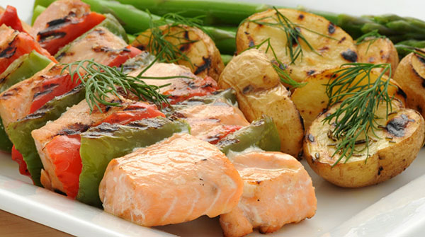 Sweet and Smoky Salmon Kabobs
