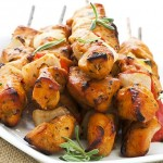 Tequila-Mustard-Glazed Chicken Skewers