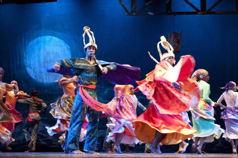 NDTC dancers in Rex Nettleford's dance-work, Kumina. Photo by Stuart Reeves Photography.