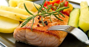 Grilled Salmon with North African Flavours