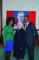 Gwyneth Chapman With Lieutenant Governor of Ontario and Anthony Hylton, Her Chief of Staff