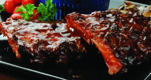 Barbequed Baby Back Pork Ribs