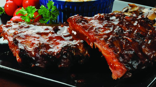 Barbequed Baby Back Pork Ribs