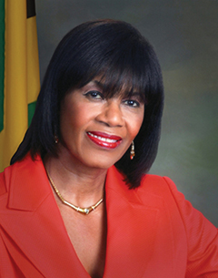 Portia Simpson Miller, leader of Jamaica opposition People's National Party (PNP).