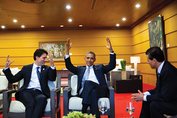 New Canadian PM Meets US President