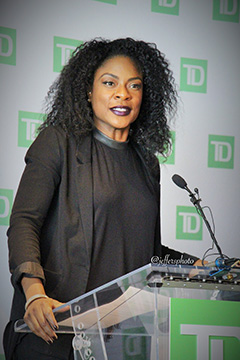 Canadian R&B songstress, Jully Black, was the emcee at the 2016 TD Black History Month Series Launch