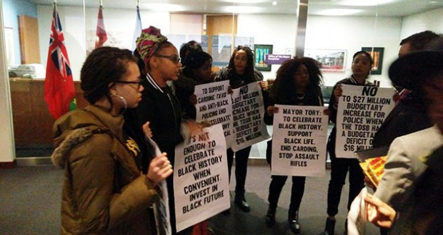 Black Lives Matter Protests Mayor Tory's Black History Month Celebration