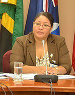 CARICOM Mission Head, Ms. Josephine Tamai, Belize Chief Elections Officer, Elections and Boundaries Department. Photo credit: CARICOM.