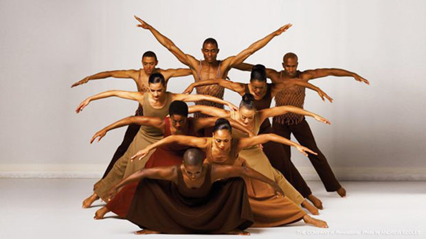 "Alvin Ailey American Dance Theater members perform in Alvin Ailey's ""Revelations"". Photo by Andrew Eccles."