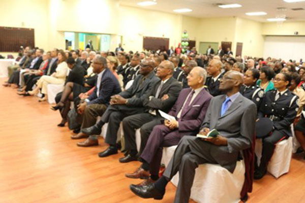 A cross-section of the audience at the event, held at the JCA centre. Photo by Kingsley Gilliam.