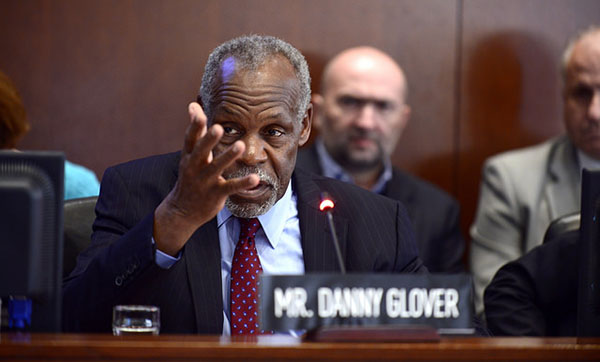 Veteran actor and human rights activist, Danny Glover, also made a presentation at the OAS Special Meeting. Photo credit: OEA/OAS.