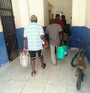 Haitian prisoner leaving after their fines were paid by Food for the Poor.