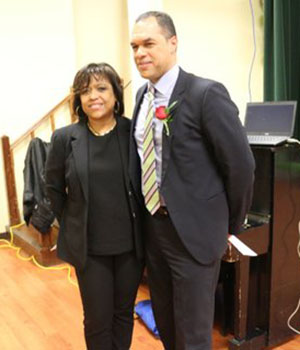 Jenny Gumbs, President of Tropicana Community Services Organisation, and Peter Sloly. Photo credit: Kingsley Gilliam.