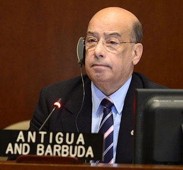 Antigua and Barbuda Ambassador, Sir Ronald Sanders. Photo credit: OEA/OAS.