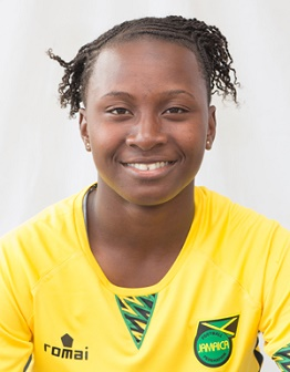 Tarania Clarke scored Jamaica's second goal.  Photo credit: Jamaica Football Federation.