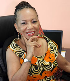 Professor Eudine Barriteau, Pro Vice-Chancellor Principal of Cave Hill Campus. Photo credit: UWI.