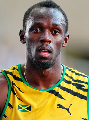 Usain Bolt. Photo by Augustas Didžgalvis -- Own work, CC BY-SA 4.0.