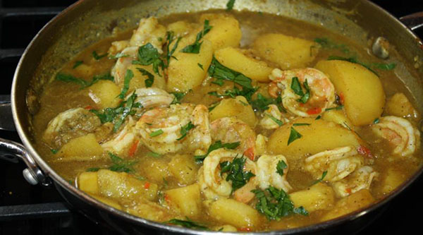 Curry Potato With Shrimp