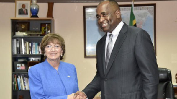 Dominica Prime Minister Welcomes US Ambassador