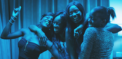 "(L to R) Assa Sylla, Lindsay Karamoh, Karidja Touré and Mariétou Touré in Céline Sciamma's ""Girlhood"", a past ttff selection."