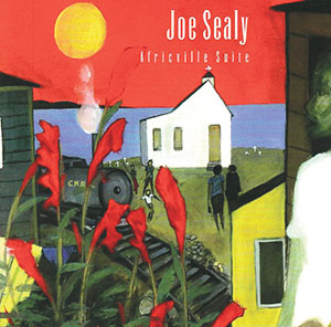Africville Suite by Joe Sealy, 1996 Juno Best Contemporary Jazz Recording. Woods provided cover art and spoken word pieces. Illustration provided.