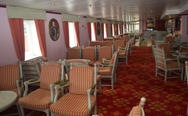 Inside the cruise ship, Noble Caledonia. Photo credit: GINA.