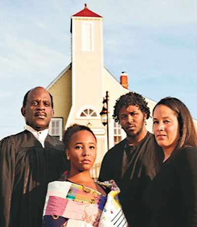 The cast of Woods' play, Once: Africville Stories, won Best Drama, Best Script Awards at the 2015 Atlantic Fringe Festival. Woods is on the left in photo that was provided.