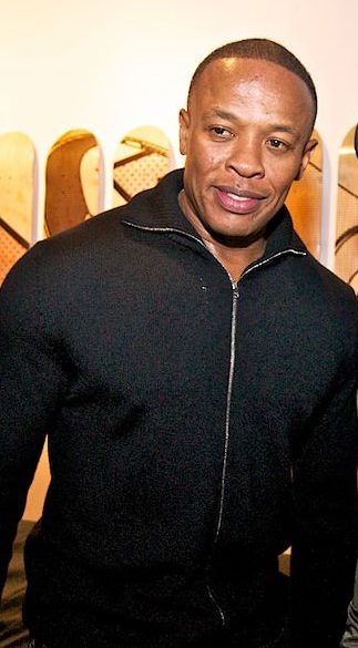 Dr. Dre at the Beats Store grand opening November 2011. Photo by: Commondr3ads. This file is licensed under the Creative Commons Attribution-Share Alike 3.0 Unported license.
