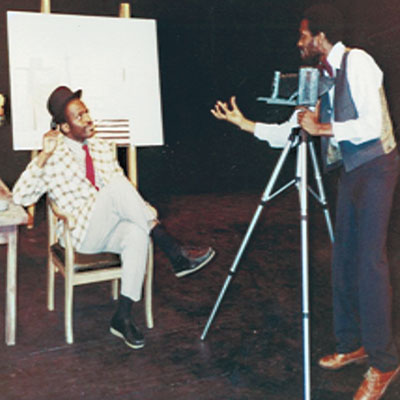 Sizwe Bansi Is Dead, Dunn Theatre, Halifax, 1981 -- Woods' first professional acting performance. Photo provided.