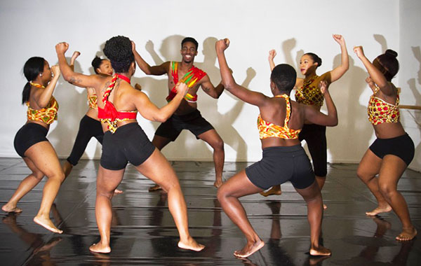"Production photos of ""Urban Shadows"". Photo courtesy of La' Riatsila Dance Theatre."