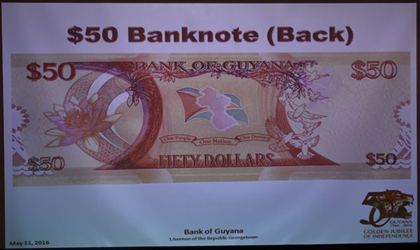 The $50 bank note.