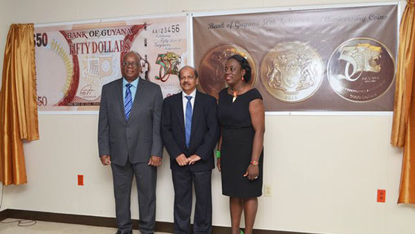 Bank Of Guyana Launches Jubilee Commemorative Coins And $50 Bill
