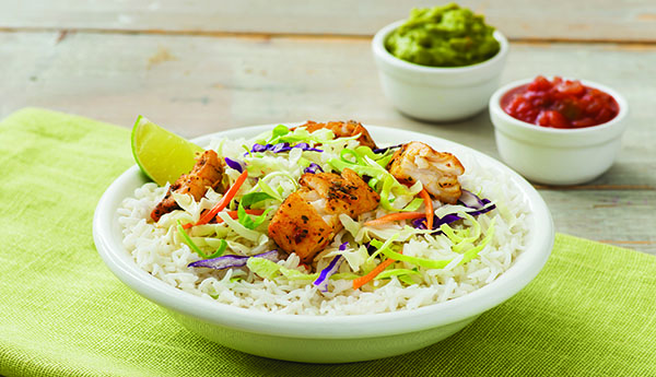 Mexican-Inspired Fish Taco Bowl