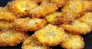 Panko Crusted Fried Plantains