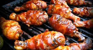 BBQ Chicken Wrapped In Bacon Glazed With Tamarind BBQ Sauce