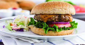 Serve A Platter Of Sensational Blended Chicken Cheeseburgers