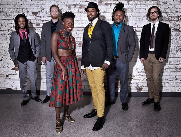 """D'bi.young's band, """"D'BI. & THE 333"""", was formed in the fall last year. Photo credit: Anthony Macri."""
