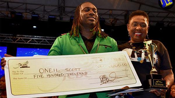 Oneil Scott Wins Jamaica Cultural Development Commission's Festival Song Competition